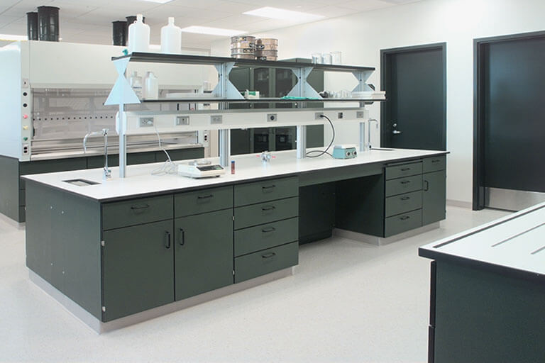 Plastic Laminate Casework for Commercial Labs