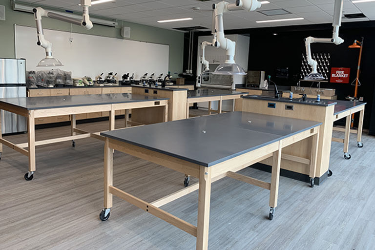 Wood Lab Tables for Educational Labs