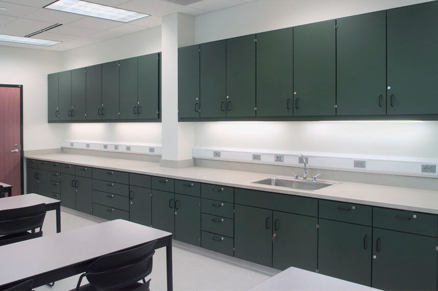 Plastic Laminate Casework in a Commercial Lab