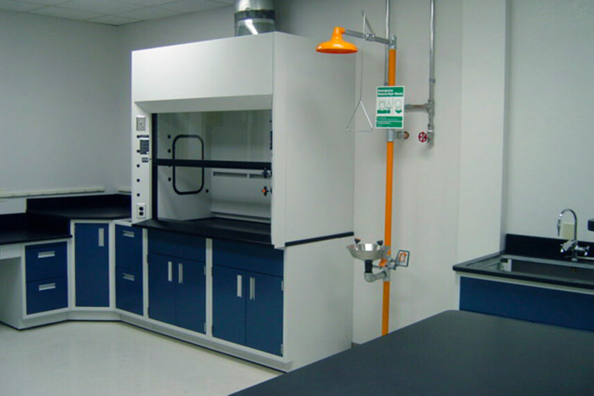 Benchtop Fume Hood in a Commercial Lab