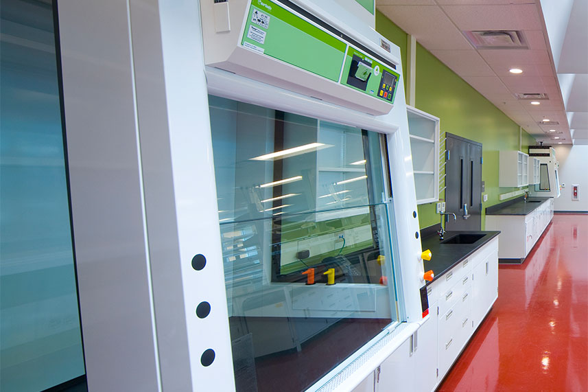 Ductless Fume Hood in a Commercial Lab