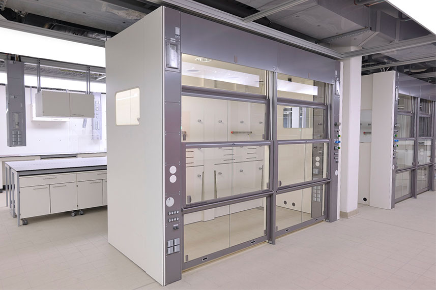 Walk In Fume Hood in a Commercial Lab
