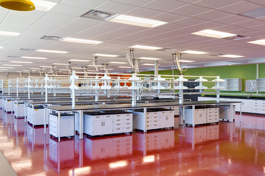 Flex Lab Bench in a Commercial Lab