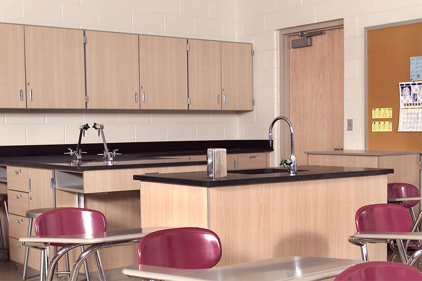 Plastic Laminate Casework for Educational Labs