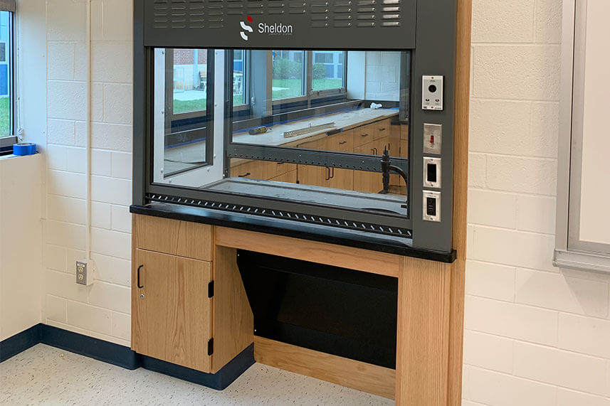 ADA Fume Hood for an Educational Lab
