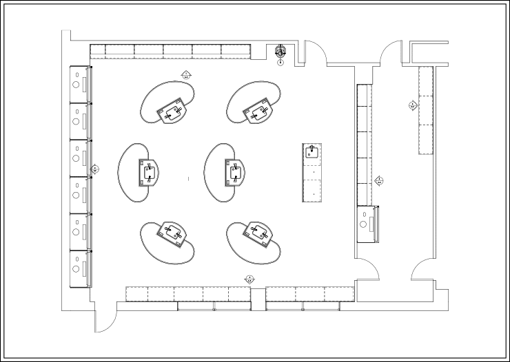 Sample Layout 3 for Axis Workstations in an Educational Lab