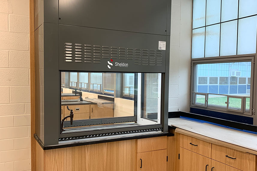 Demonstration Fume Hood for an Educational Lab