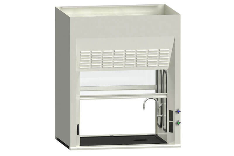 Double-Sided Fume Hood for an Educational Lab