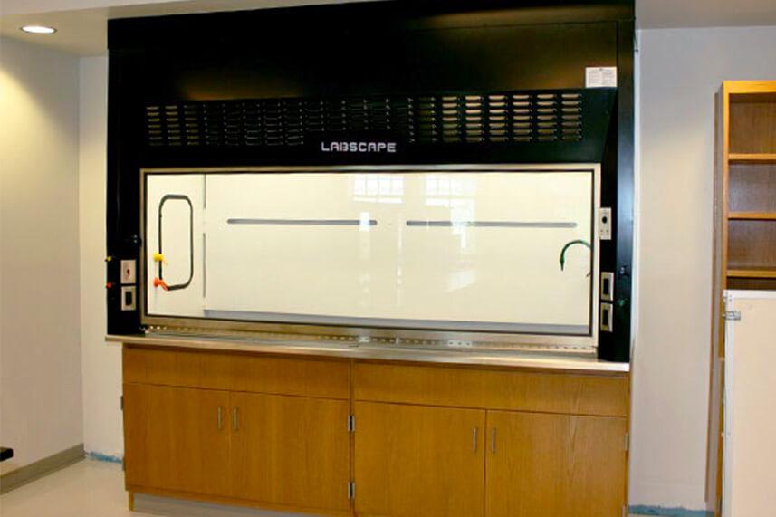 Air Foil Fume Hood in an Educational Lab