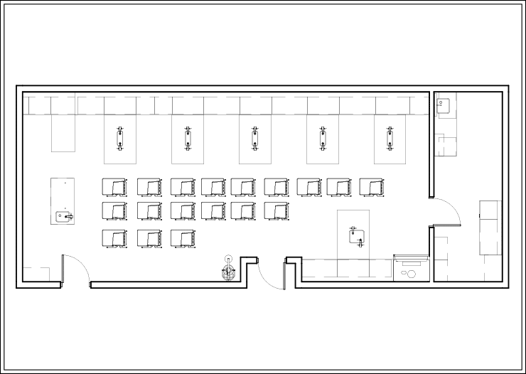 Sample Layout 1 for Pier Tables in an Educational Lab