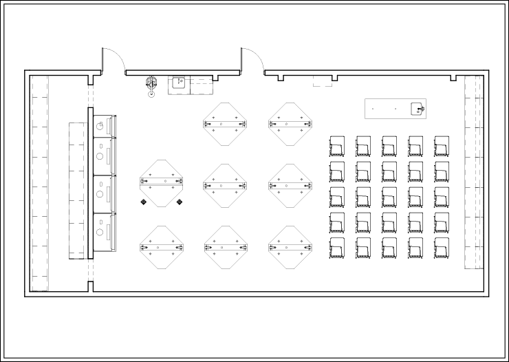 Sample Layout 1 for TEII Workstations in an Educational Lab