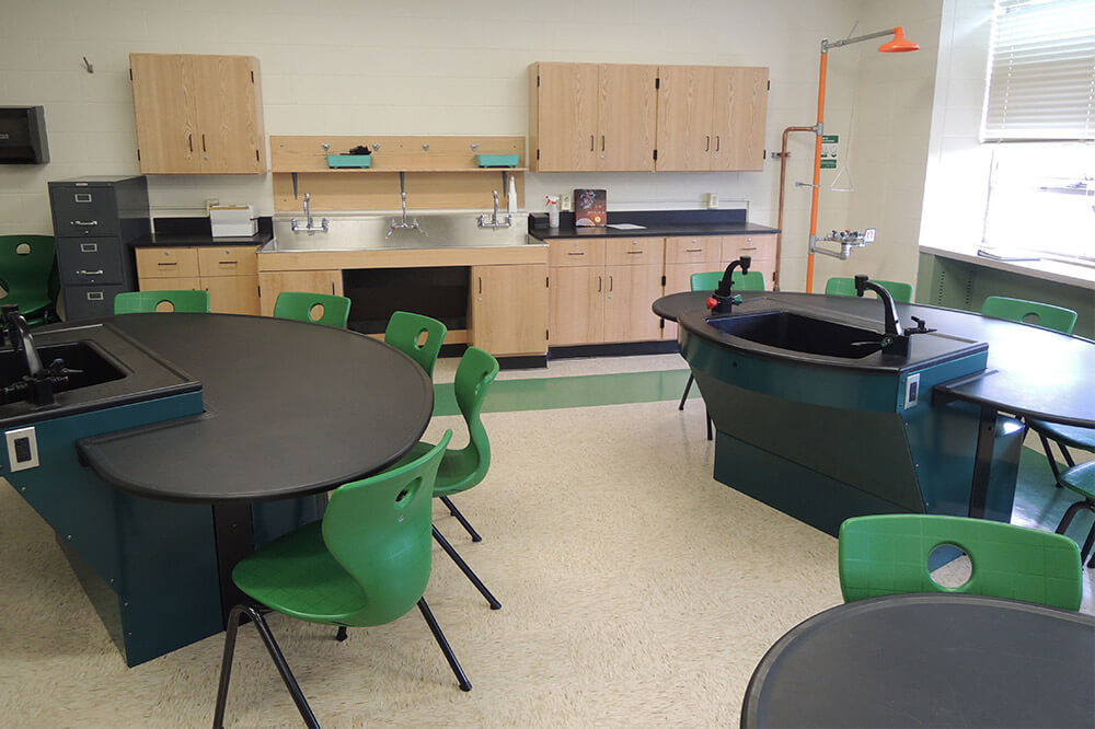Longo Labs products in an biology and earth science room