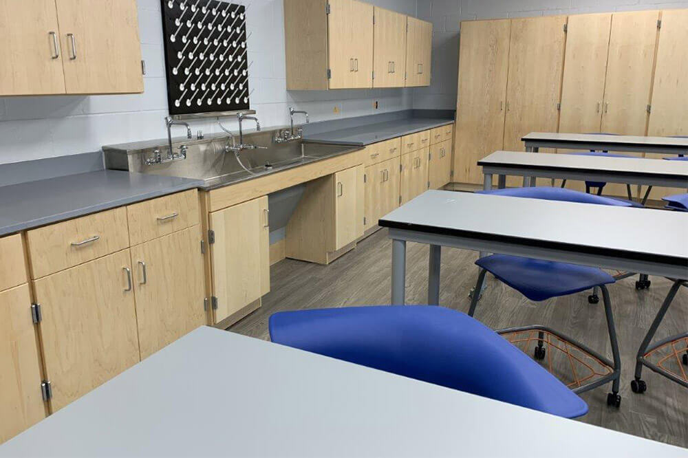 Longo Labs products in a Stem + Robotics room