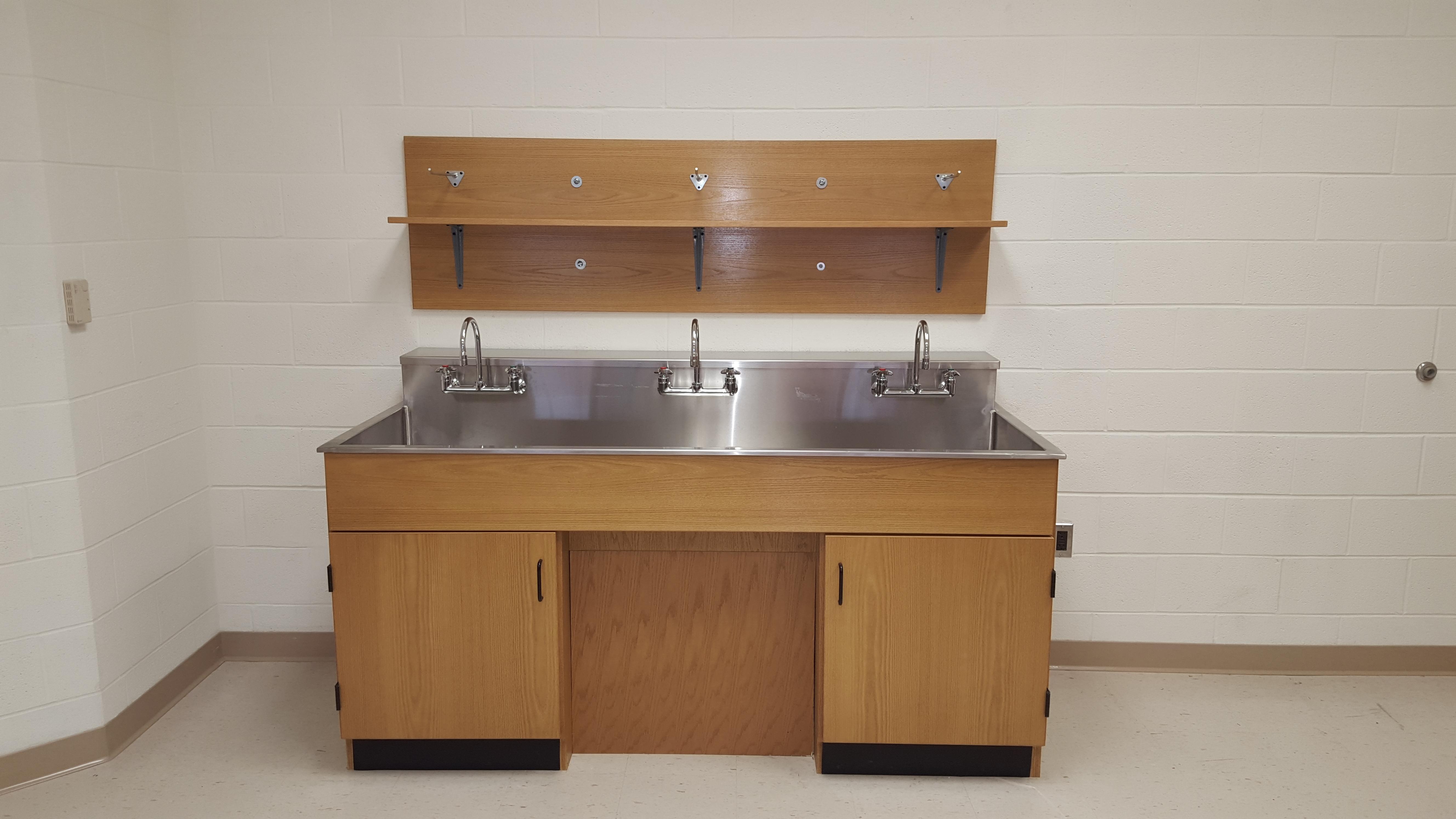 Perfect Sheldon Wall Sink Center