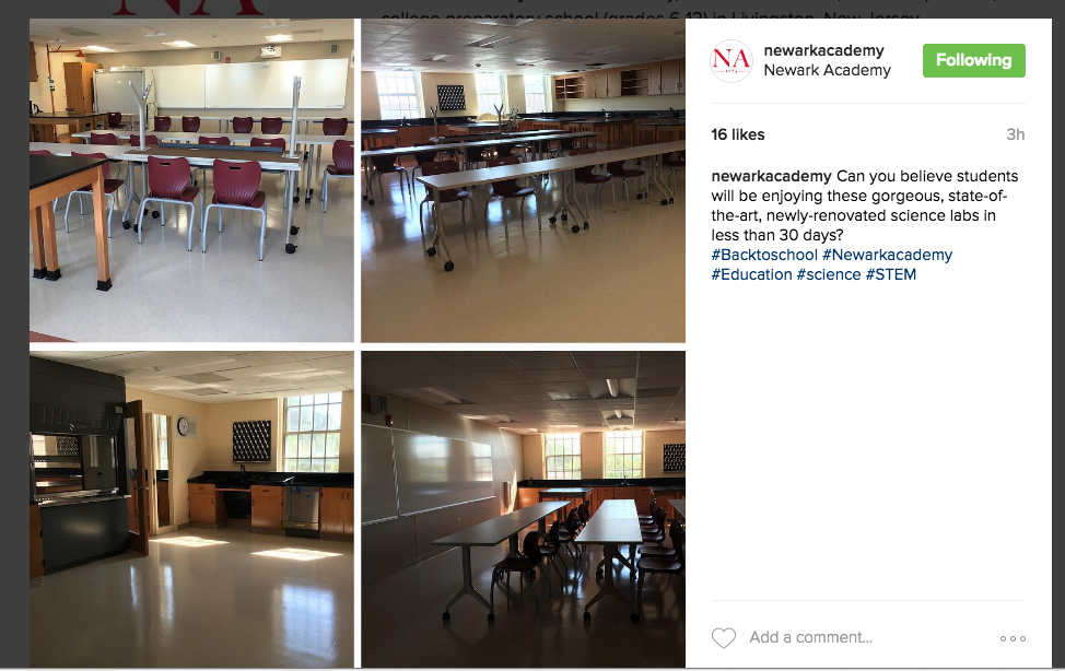 Longo Labs on Newark Academy Instagram