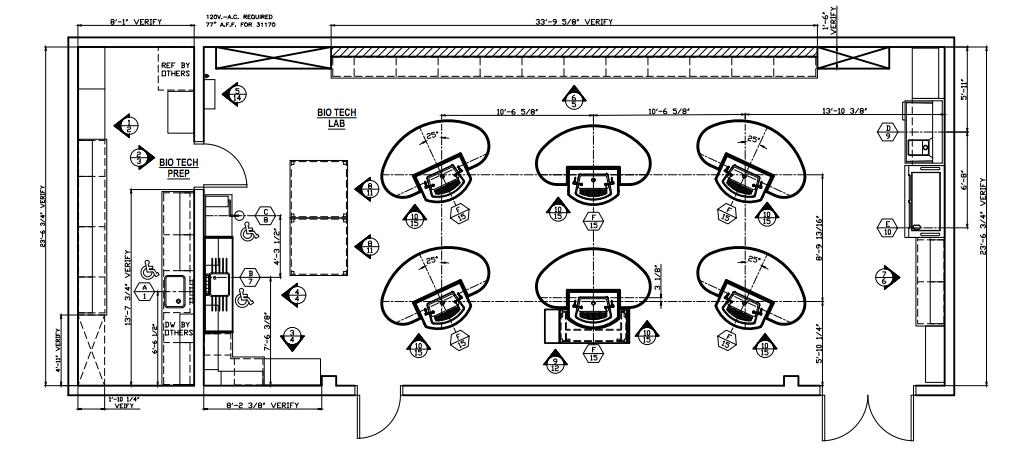 Floor plan for Mountain Lakes High School