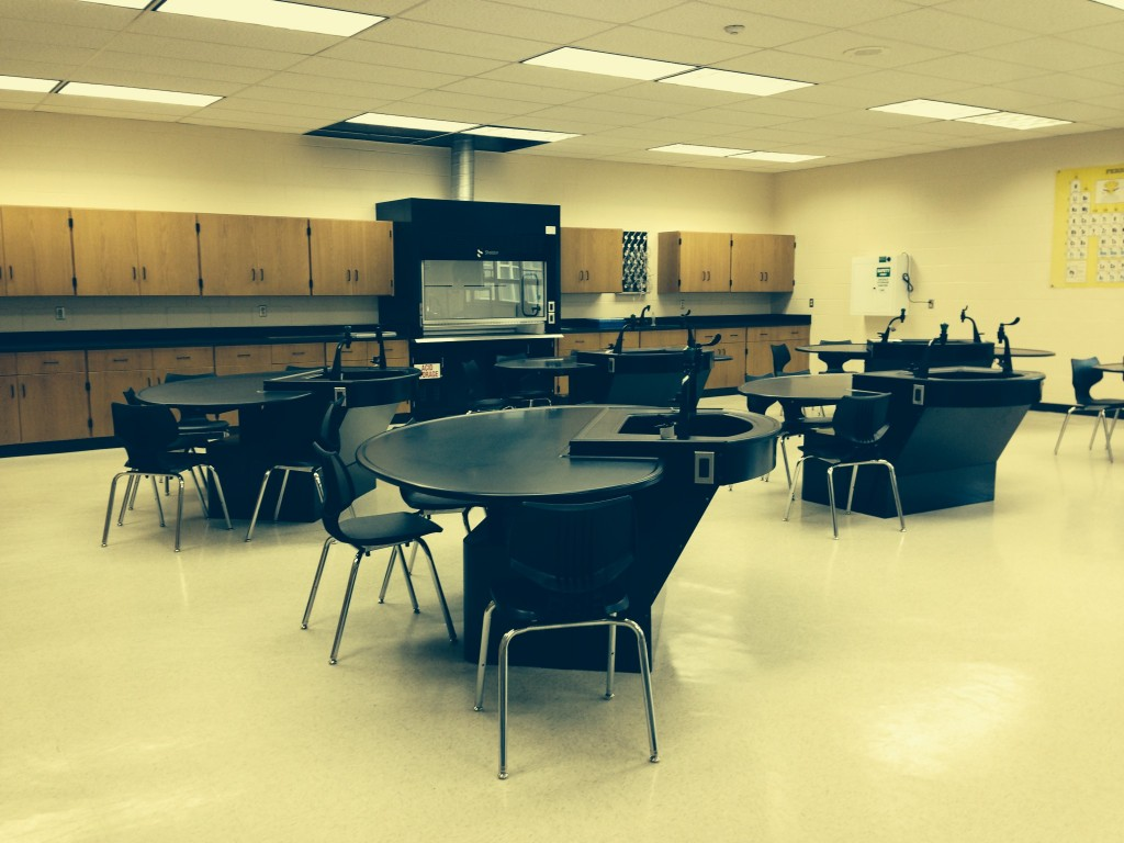 Hightstown HS Science Lab renovation by Longo Labs